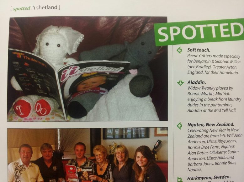 Peerie Critters Bride & Groom in ii Shetlands February issue ♥