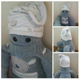 A selection of Baby Blake's 1st year keepsake clothes made into a Peerie Critter especially for his 1st Birthday ♥ © Peerie Critters 2013 Blake DOES love his peerie critter thanks so much. His Daddy and I love it too Xxxx ~ Naomi