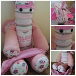 Made from a selection of baby Evies 1st year clothes this Keepsake was made especially for her 1st birthday I LOVE IT!!!!!!!!!!!!!!!!!!!!!!! You truly are amazing...So so special xxx ~ Leah