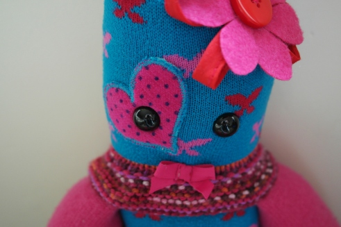 Made from a selection of baby Evie from Argyll's 1st year clothes this keepsake Critter was made especially for her 1st Birthday! © Peerie Critters 2013 We are so impressed with it and extremely grateful. We both agree that it is the best thing we could have got for her....At the party, of all the nice gifts and presents that she got, the peerie critter was admired and commented on more than anything else...... we'll certainly recommend you and commission you ourselves again in the future. ~ Lewis