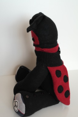 This Peerie Ladybird Critter was a 21st birthday surprise that incorporated some baby clothes & came with 3 requests, 1. That it have a Ladybird theme 2. That it would reference Enter Shakari 3. And Led Zeppelin This Critter has them all wrapped up!© Peerie Critters 2014 Freya he loved it! it had the desired effect :D Thanks again xx